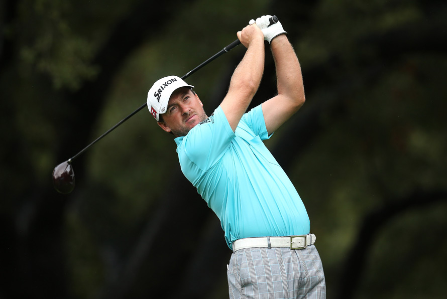 Graeme McDowell made seven birdies and a bogey to grab a three-shot lead.