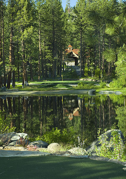 Can't make it to the course? Tranquility has two over-water par 3s as well as a simulator.