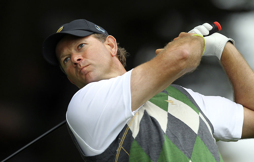 Retief Goosen: B                       Record: 3–2-0                        Missed amazing number of short putts for a guy who won three matches.