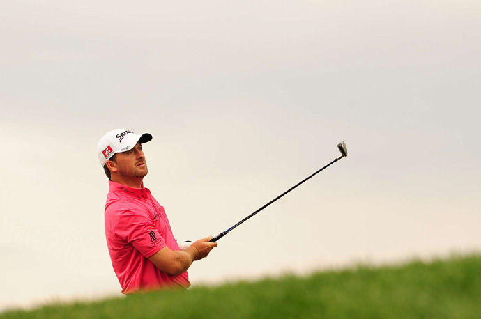 Graeme McDowell shot a two-over 74 to barely make the cut.