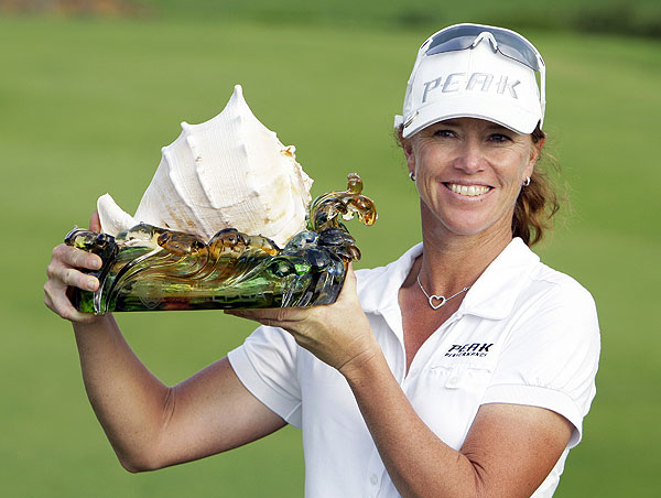 Want to hear the sounds of the ocean? Win the LPGA's Grand China Air like Helen Alfredsson did in 2008.