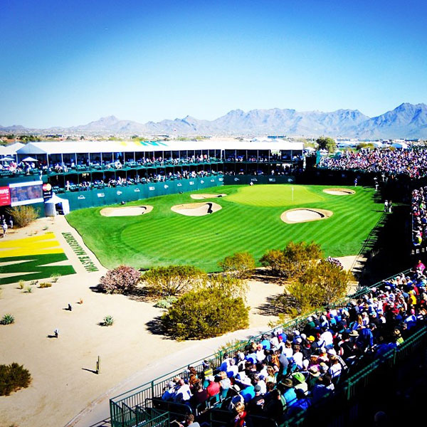 @gq_id: The famous 16th at the Waste Management Phoenix Open! Tournament starts Today! #Excited #ColiseumHole #Golf #Arizona