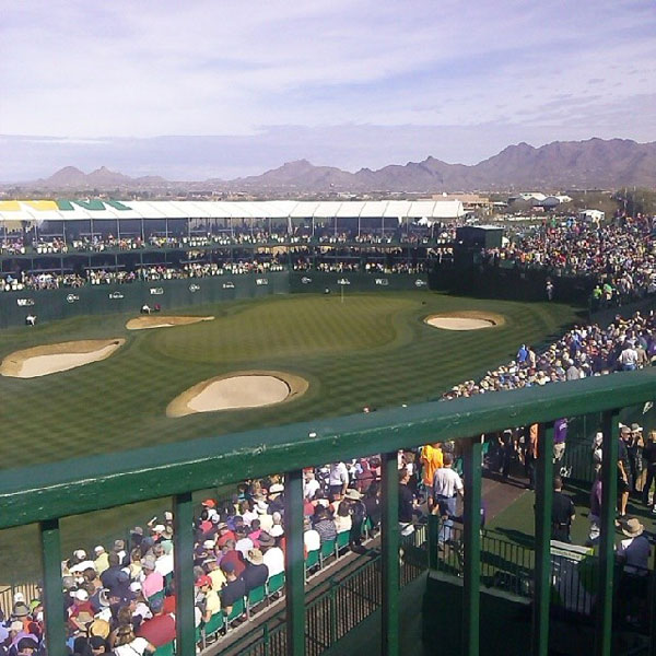 @billbogan: Its a beautiful day in the neighborhood!! #16thhole #greenestshow #wastemanagement