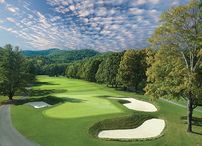 71. The Greenbrier (Old White TPC) White Sulphur Springs, W. Va.; C.B. Macdonald/Lester George (1914/2007) -- $195-$375, greenbrier.com