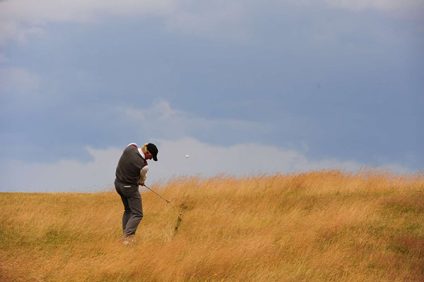 Greg Norman was unable to build on the success he had at last year's British Open. He missed the cut.