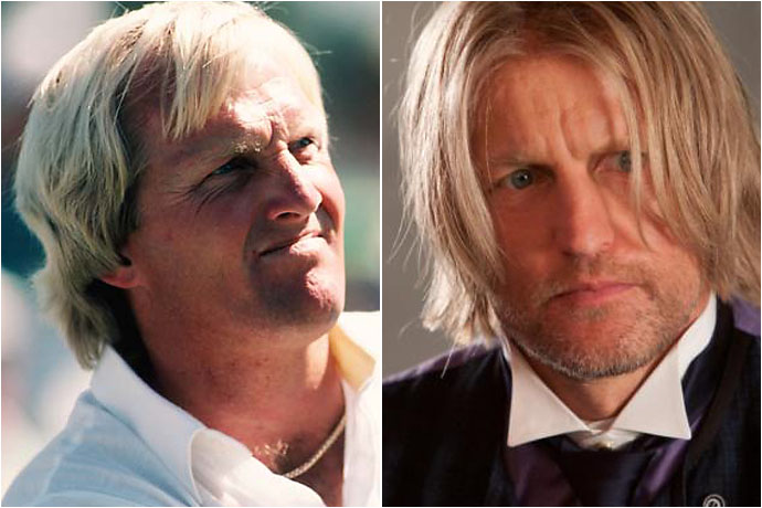 Greg Norman and Woody Harrelson