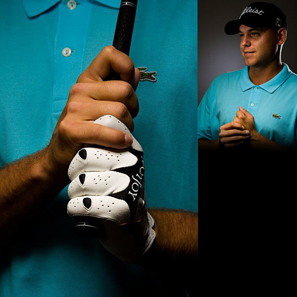 Bill Haas                       I got my grip from my dad [Jay] mostly, not from my great-uncle [Bob Goalby], but maybe there was a trickledown effect. I know Bob always fought a hook. I used to be much stronger in the left hand. Then I went much weaker and now neutral. I hold it harder to hit a fade and looser on a draw. But ball position and stance are the way to work the ball, in my opinion, not the grip.