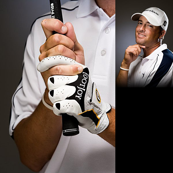 "Ryan Palmer                     Yeah, I have a strong grip — I like to hit the ball right to left. I weaken my left hand for bunker shots. Palmer's instructor, Neil Wilkins: ""The first time Ryan came to me, I said, 'I want you to stop regripping.' The instant before he took the club back, he moved his right hand down into a much stronger position — it was his swing trigger. No wonder he fought a hook."""