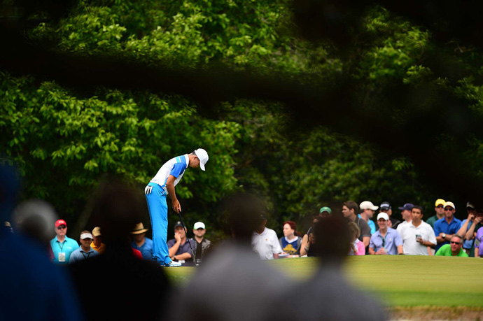 Fourteen-year-old Tianlang Guan shot a one-over 73.