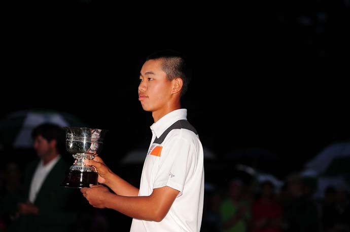 """It's actually the most difficult course in the world.""                       --14-year-old Tianlang Guan on Augusta National after finishing as low amateur at the Masters."