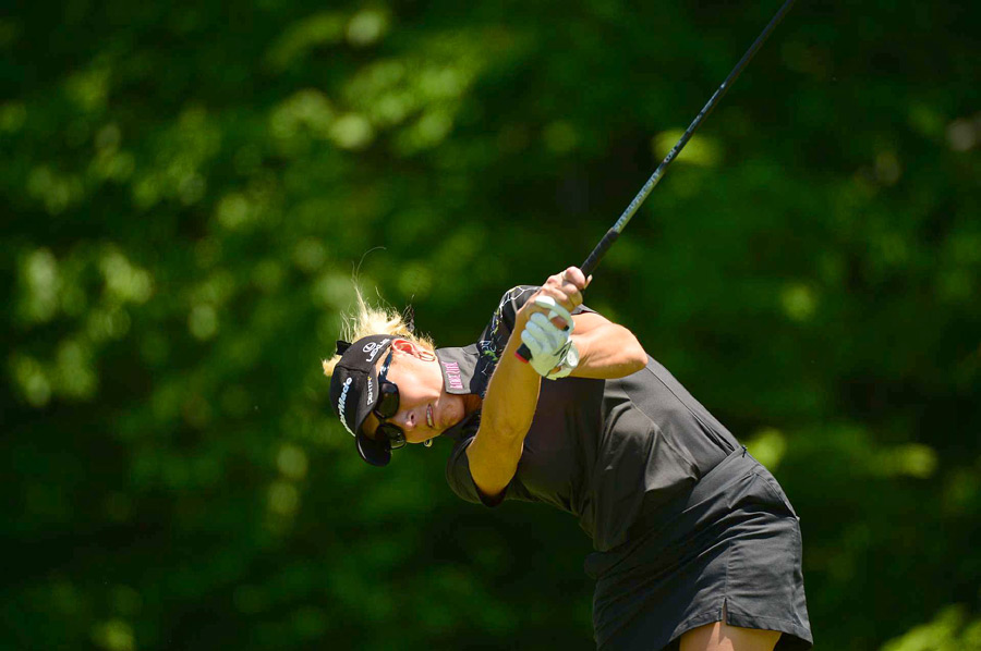 Natalie Gulbis was knocked out by Amy Yang, 5 and 4.