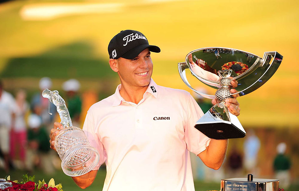 """Bill Haas has long been known as """"Jay's kid,"""" but he made a name for himself this year by winning the Tour Championship and the FedEx Cup, which included the shot of the year. He also made his first Presidents Cup team along his father, who served as an assistant captain."""