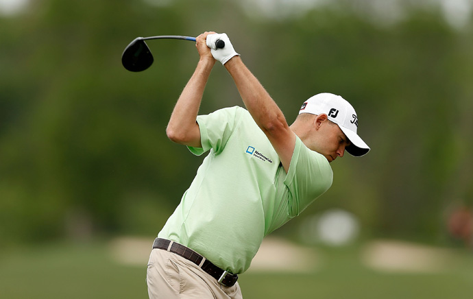 Bill Haas fired a five-under 67 to grab a share of the lead.