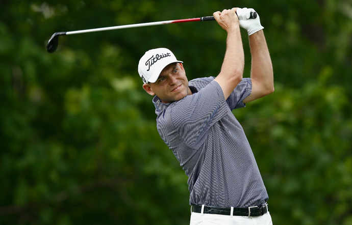 Bill Haas fired a five-under 67 to grab the clubhouse lead at nine-under par.