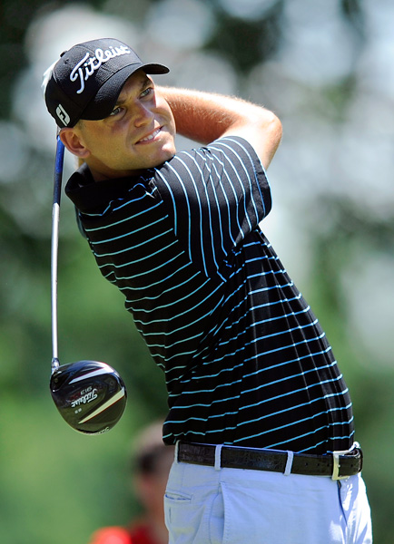 Bill Haas is also tied for the lead after making nine birdies, three bogeys and a triple bogey.