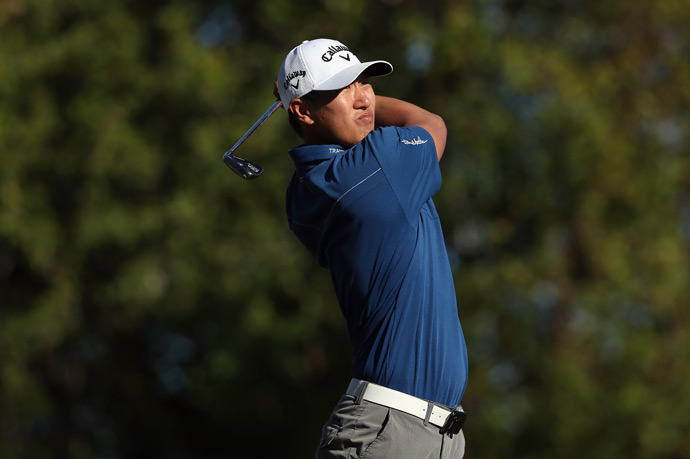 James Hahn shot a five-under 67 to remain tied for the lead.