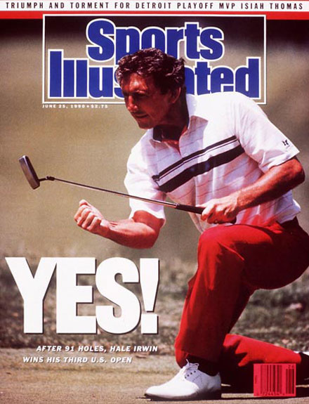 Hale Irwin wins the 1990 U.S. Open at Medinah June 25, 1990