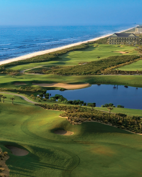 "Hammock Beach Resort (Ocean Course)                     Palm Coast, Fla.                     $85-$139                     hammockbeach.com                                          Wind, wetlands and a handful of oceanside holes, including the final four that comprise ""The Bear Claw"" are among the enticements at this 11-year-old course."