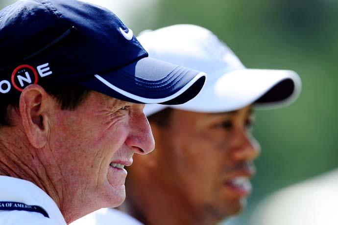 """Tiger is having a real hard time winning the easiest major he is going to win -- No. 15. No. 18 to tie Jack and 19 to beat Jack, those are going to be the hard ones. If he gets that far.""                     --Hank Haney on Tiger Woods' struggles at major championships."