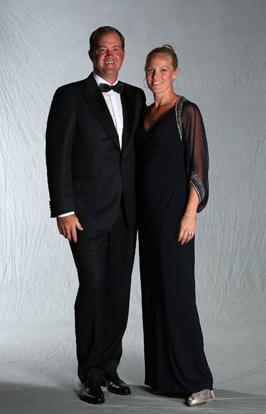 Peter Hanson and his wife, Sanna.