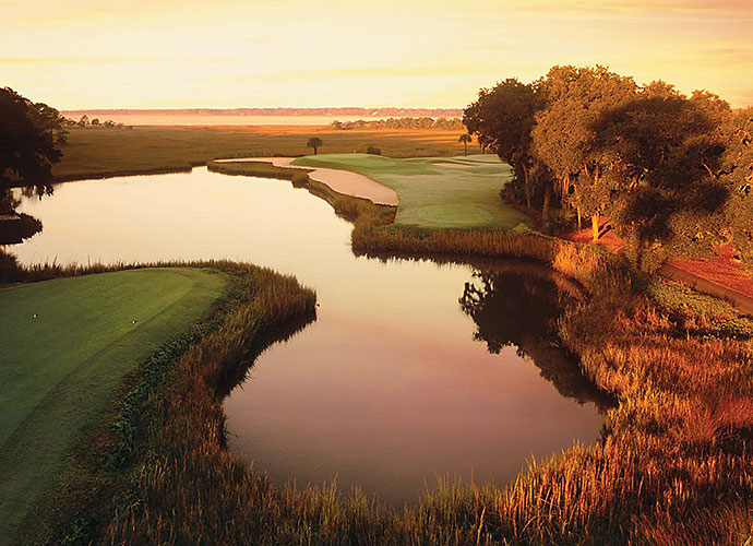 2. Harbour Town Golf Links, Hilton Head Island, S.C.: A favorite of PGA Tour pros for more than 40 years, Harbour Town boasts the iconic candy cane-striped lighthouse backdrop on the 18th hole -- and so much more. Mixing live oaks, lagoons, tiny greens, bunkers banked by railroad ties and a closing stretch along the Calibogue Sound, this Pete Dye/Jack Nicklaus collaboration delights and terrorizes at every turn.