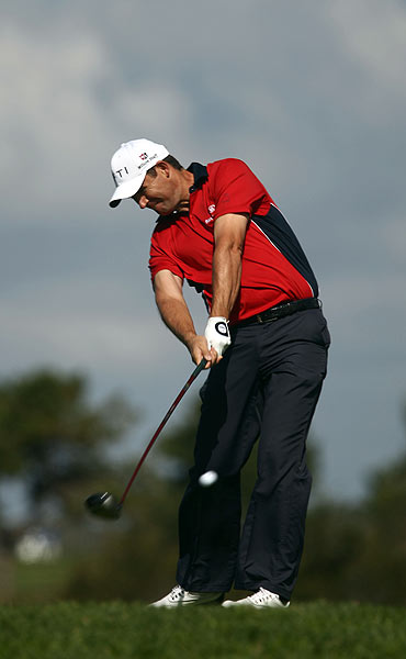 Padraig Harrington double bogeyed the par-3 17th hole and finished with a 1-over 71.