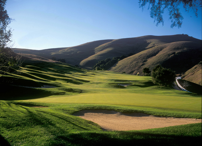 Hiddenbrooke Golf Club -- Vallejo, Calif. -- hiddenbrookegolf.com                       A former stop on the LPGA Tour, Hiddenbrooke spills through classic Northern California terrain -- all rolling hills, studded with scrub oaks, creeks and culverts winding here and there. Relatively short, the design defends itself with deceptive elevation changes, none more dramatic than on the 13th -- a par 3 that plays from a nosebleed tee over a canyon to a small, kidney shaped green.