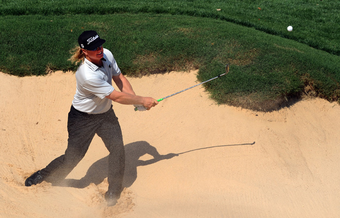 Charley Hoffman is also tied for second after a two-under 70.