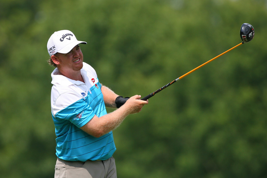 J.B. Holmes made five birdies and a bogey for a 67.