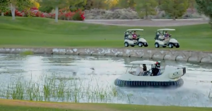 """We'll be able to offer something that no one in the area, in the state and at this point in the country can offer.""                   --Pete Duffey, the managing director of Windy Knoll Golf Club in Springfield, Ohio, on purchasing two hovercraft golf carts for the course."