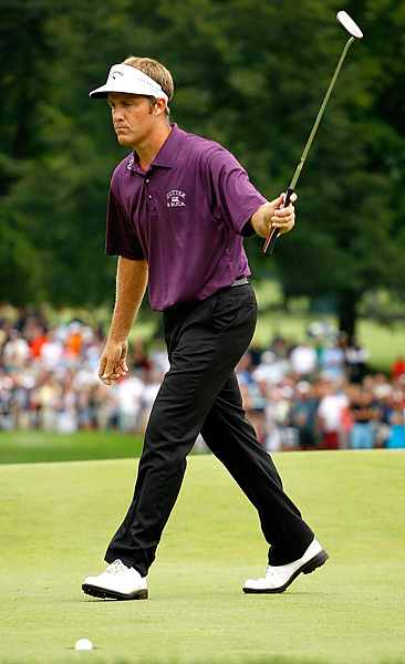 Stuart Appleby walked in his final putt on the 18th hole at the 2010 Greenbrier Classic. The putt dropped for a birdie, a victory and the fifth 59 in PGA Tour history.