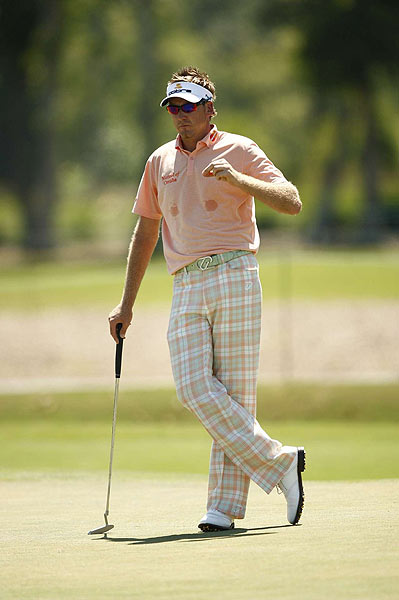 Ian Poulter shot a one under 71.
