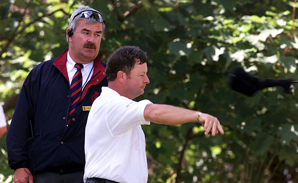 "Ian Woosnam was in position to win in the final round of the 2001 British Open when his caddie Miles Byrne spoke up: ""You're going to go ballistic,"" Byrne told him. ""We've got two drivers in the bag."" That meant Woosnam was carrying 15 clubs, a two-stroke penalty. He then flung the extra driver into the woods."