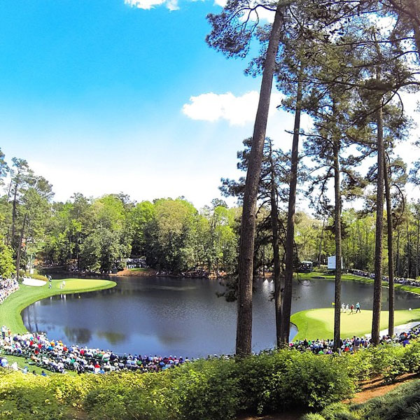 @ianjamespoulter: The view from the 8th tee on #AugustaNational par 3 course. 9th green is on the right. #Priceless view.