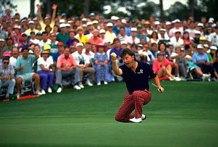 Ian Woosnam's even-par 72 in the final round was good enough to capture his first major title at the 1991 Masters.