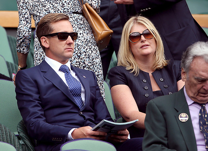 Ryder Cup hero Ian Poulter watched a few matches with his wife on day seven at Wimbledon.