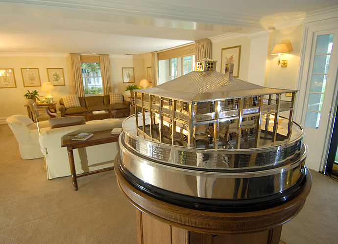 The Masters Trophy is always on display in the main sitting room.