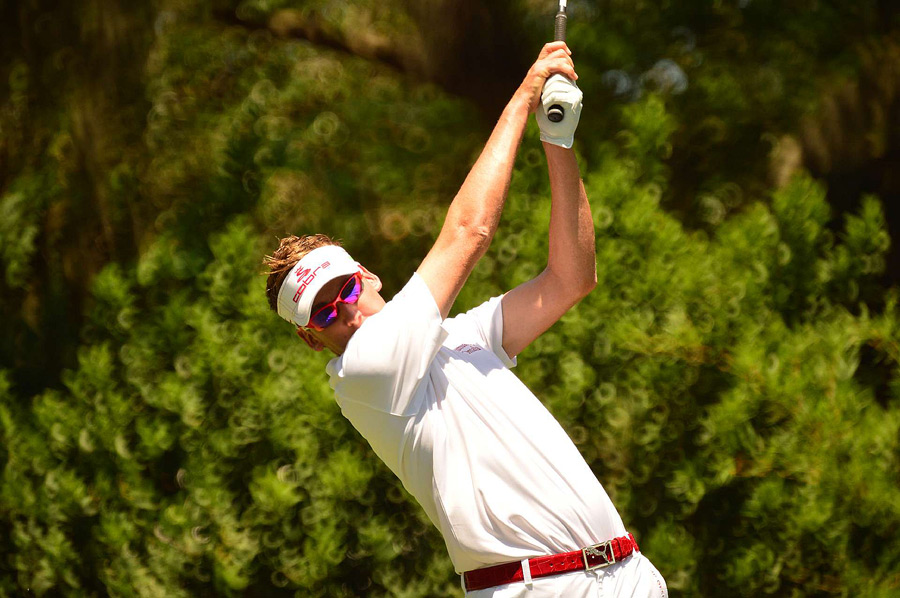 Ian Poulter had a share of the lead starting the day, but he backed up after a 76.
