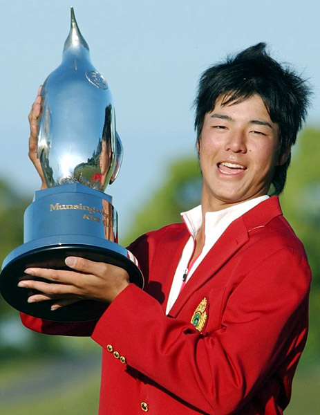 Ryo Ishikawa                       The Bashful Prince (as he's known in his native Japan) won the 2007 Munsingwear Open KSB Cup on the Japan Tour when he was just 15. He went on to win a total of nine Japanese Tour events before turning 20.
