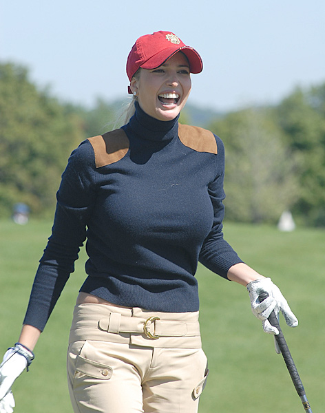 Beautiful model and hard-nosed businesswoman, Ivanka plays her golf at Trump National in New Jersey and Mar-a-Lago in Florida. We hear her dad likes the occasional money game as well.Ivanka Trump:Beautiful model and hard-nosed businesswoman, Ivanka plays her golf at Trump National in New Jersey and Mar-a-Lago in Florida. We hear her dad likes the occasional money game as well.