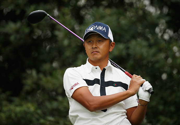 """I'm pretty famous for that in Japan.""                       --Hiroshi Iwata on his short temper on the golf course."