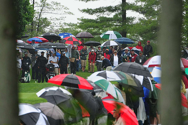 Skins Game at Memorial                     Despite the wet weather, crowds came out to watch Jack Nicklaus paired with Tiger Woods in the Wednesday Skins Game at the Memorial tournament.