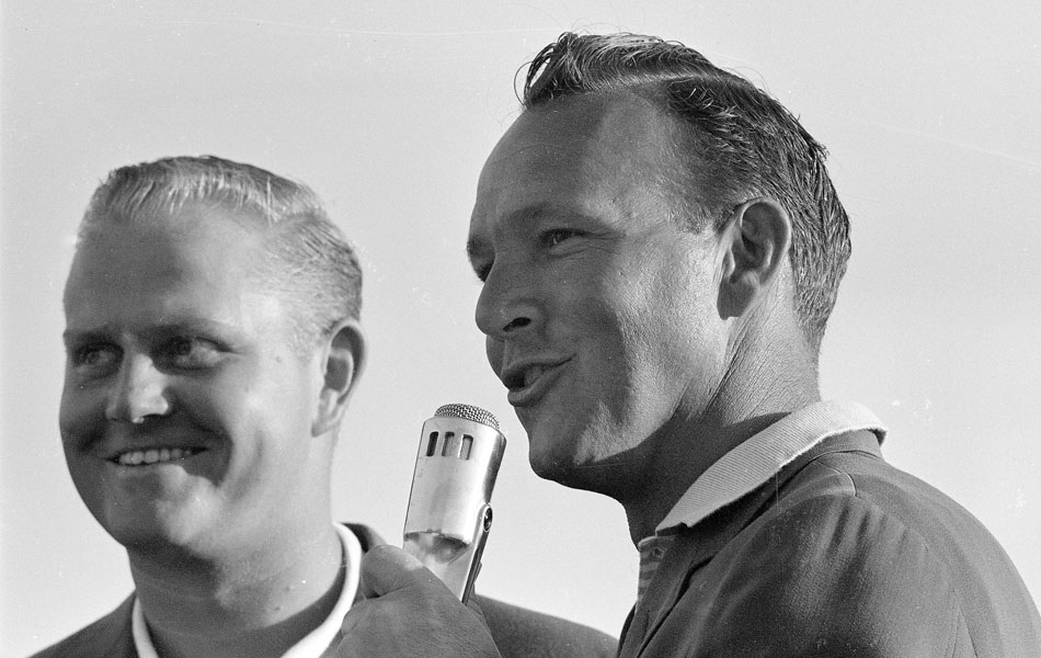 Palmer won his third green jacket in 1962, and the next year presented Jack Nicklaus with the first of his six green jackets.