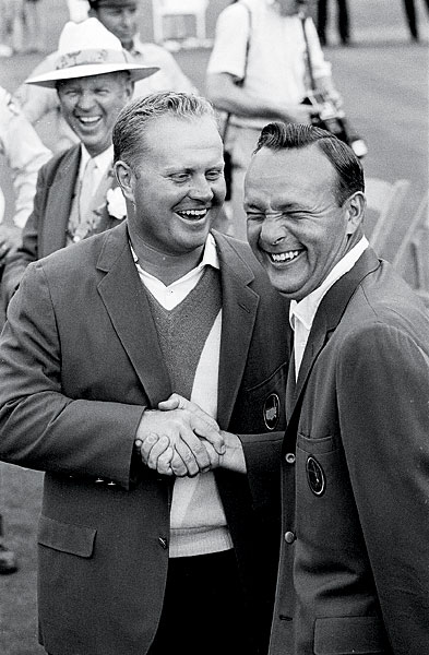 Nicklaus and Palmer exchanged green jackets for the fourth straight year.