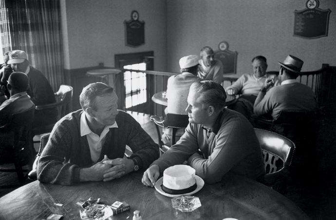 Palmer and Nicklaus at the 1965 PGA Championship at Laurel Valley Golf Club.