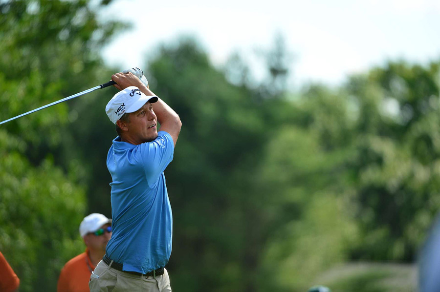 Fredrik Jacobson started the third round in the lead, but he is three shots back after a 70.