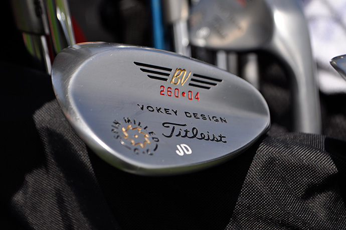 Jamie Donaldson's Titleist Vokey Design Spin Milled lob wedge has 60-degrees loft and 4-degrees bounce.