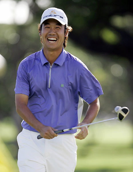 Kevin Na had plenty to be happy about after a six-under 64.