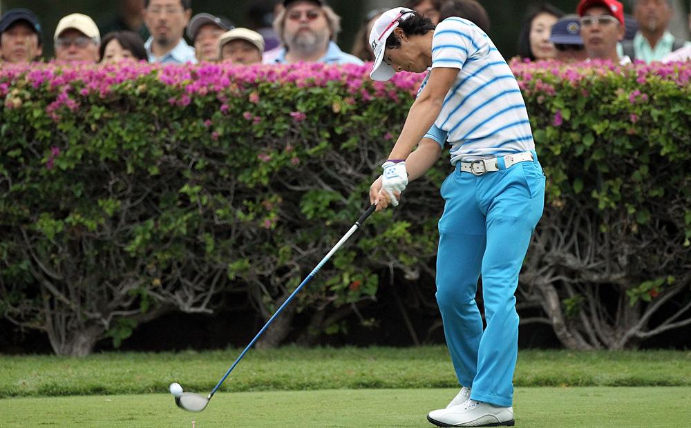 Japanese phenom Ryo Ishikawa played alongside Simpson in the first round.