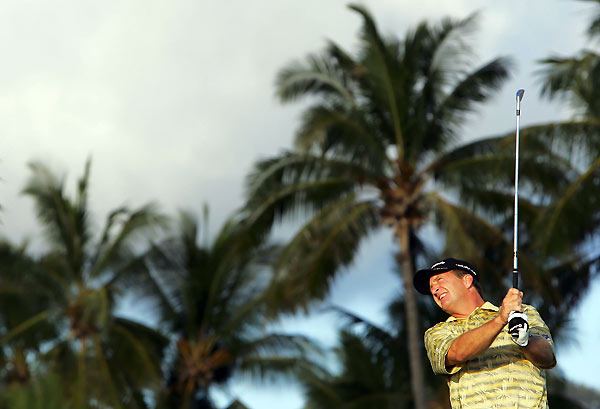 Fred Funk made four bogeys, three birdies, and an eagle to shoot a one-under 69.